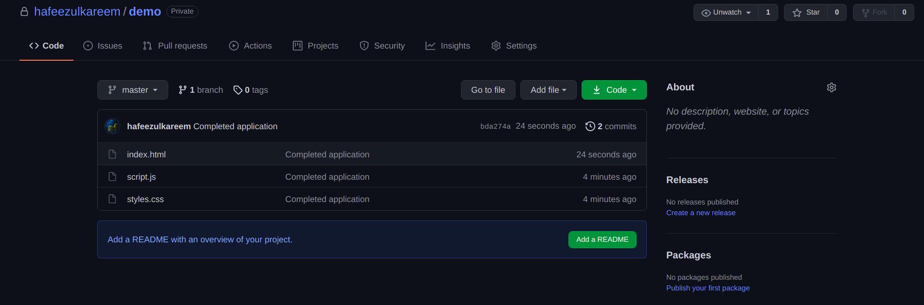 JavaScript Repository Code